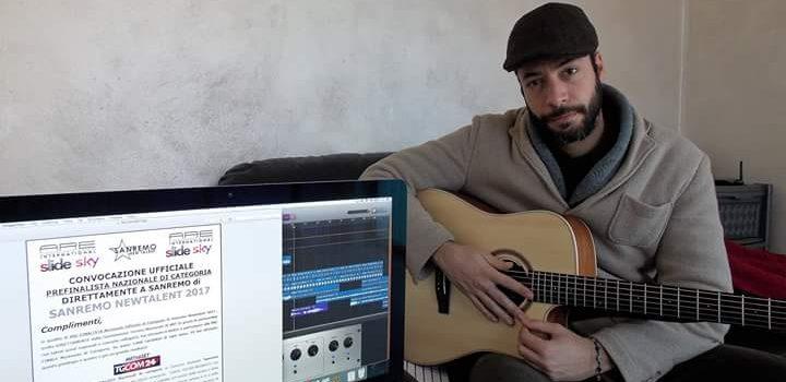 Il cantautore cattolicese Santo Chiazzese ammesso alle pre-finali di Sanremo NewTalent 2017
