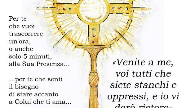 Ogni venerdì sera Adorazione Eucaristica nella chiesa del Purgatorio