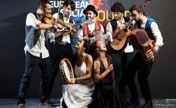 Gaspare Zambito con i suoi PopulAlma alla finale nazionale del concorso European Social Sound