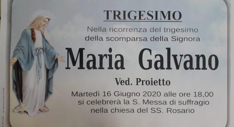 ANNUNCIO FUNEBRE – Trigesimo Maria Galvano