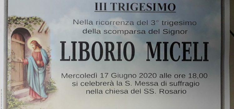 ANNUNCIO FUNEBRE – III Trigesimo Liborio Miceli