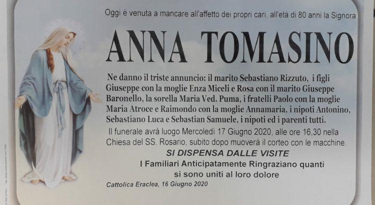 ANNUNCIO FUNEBRE – Anna Tomasino