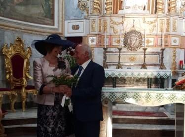 Nozze d'Oro per i coniugi Giuseppina e Giuseppe Scalia