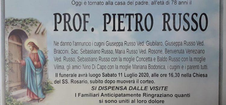 ANNUNCIO FUNEBRE – Prof. Pietro Russo